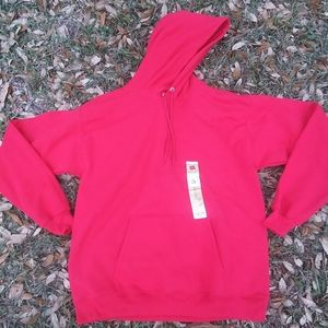 """NWT!!!! Mens """"Hanes"""" EcoSmart®red Pullover hoodie"""